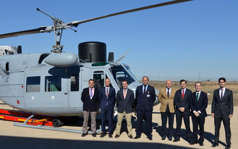 The SENER-INAER temporary joint venture delivers a new unit of the AB-212 helicopter to the Spanish Navy