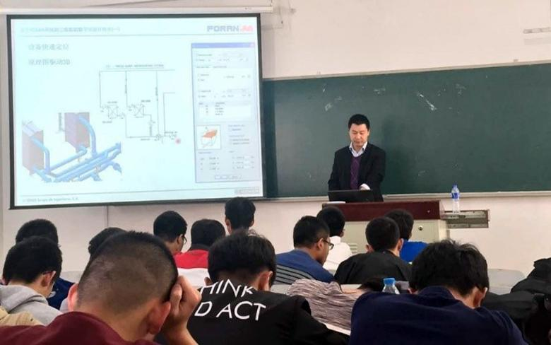 3D Digital Ship Design with the FORAN System lecture at the Dalian Ocean University