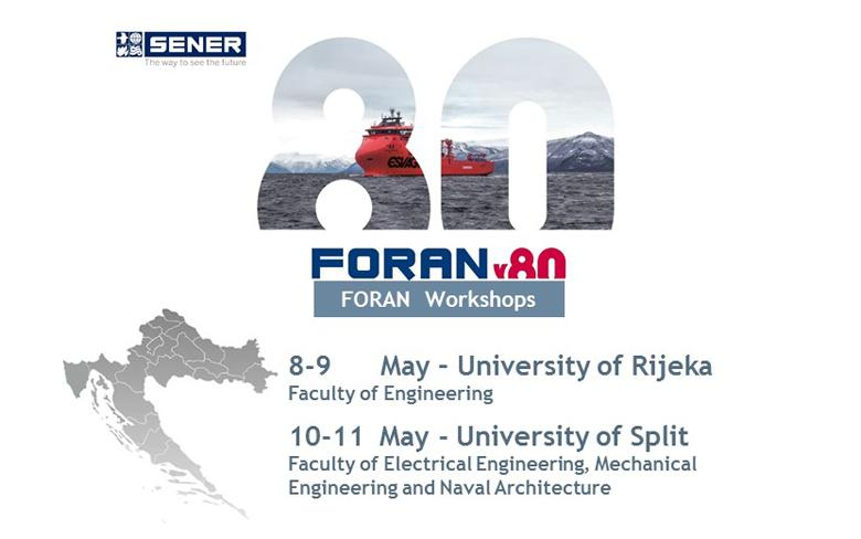 SENER signs an agreement with the Universities of Rijeka and Split to use FORAN for academic purposes