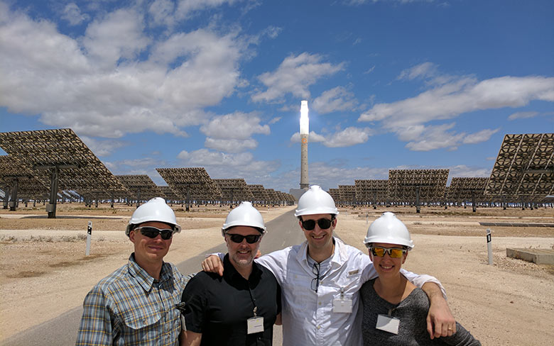 Google X visits the Gemasolar and Valle 1 and Valle 2 plants