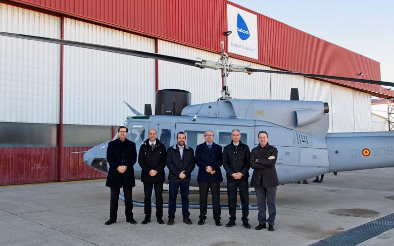 SENER and Babcock present the Spanish Navy with the fifth upgraded AB-212 helicopter