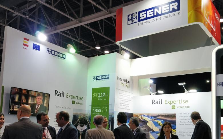 SENER shows high-tech projects at Middle East Rail