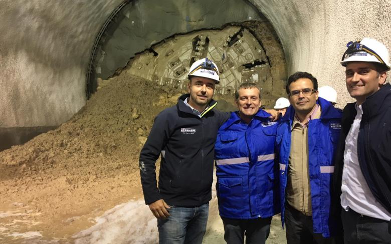 SENER participates in the completion event for the tunnel 'Vía derecha' of the Mexico City-Toluca intercity passenger train