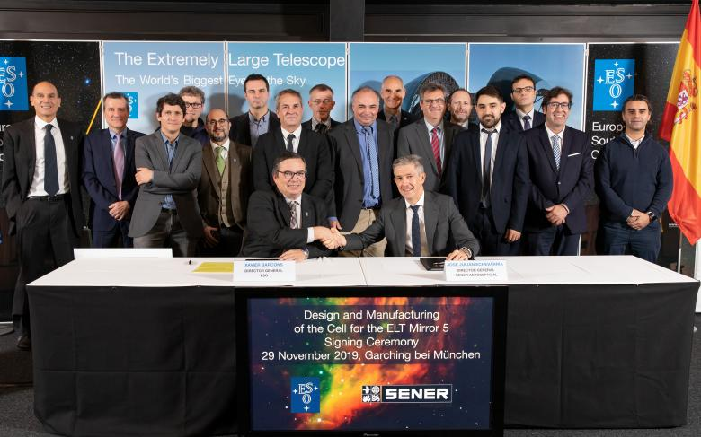 SENER Aeroespacial signs a contract with the European Southern Observatory for the M5 mechanism of the Extremely Large Telescope