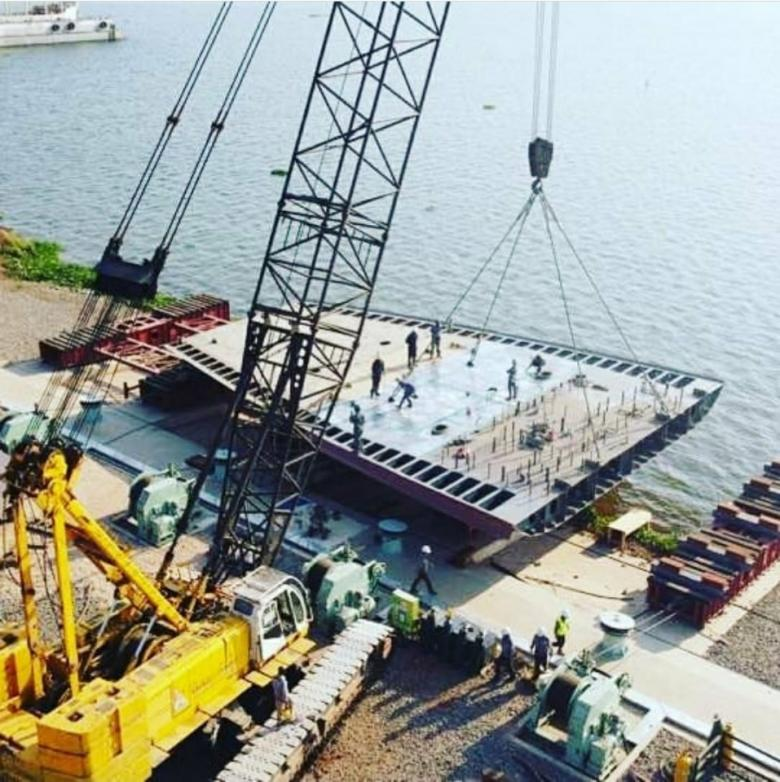 Keel laying of the ferry for Lake Victoria